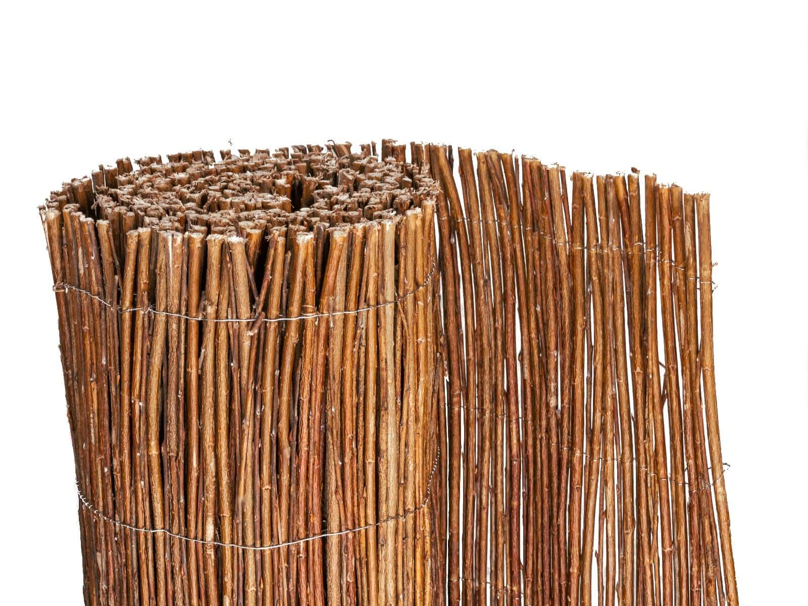 Zaunpfosten Staketenzaun Haselnuss Holzpfosten Zaunpfahl